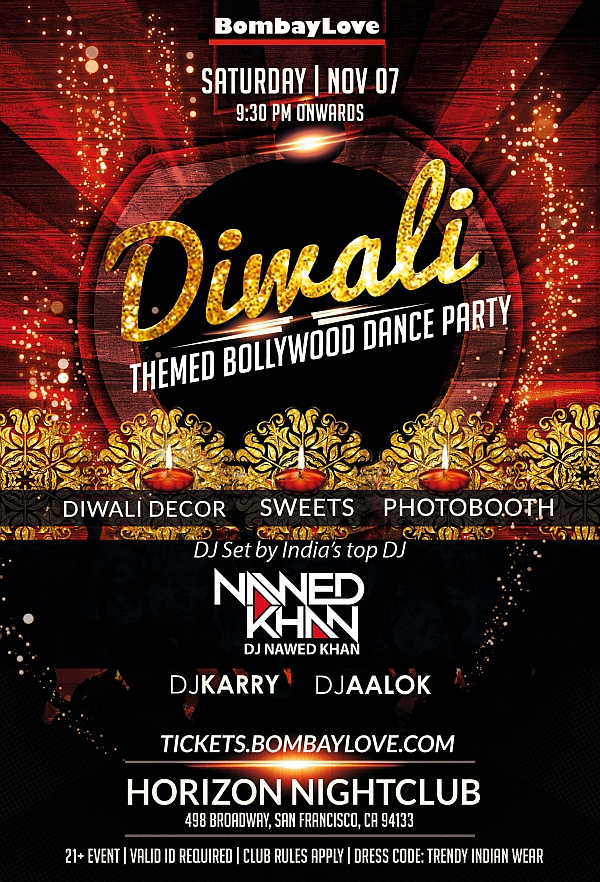 diwali 2015 in san francisco with bombaylove ft dj nawed